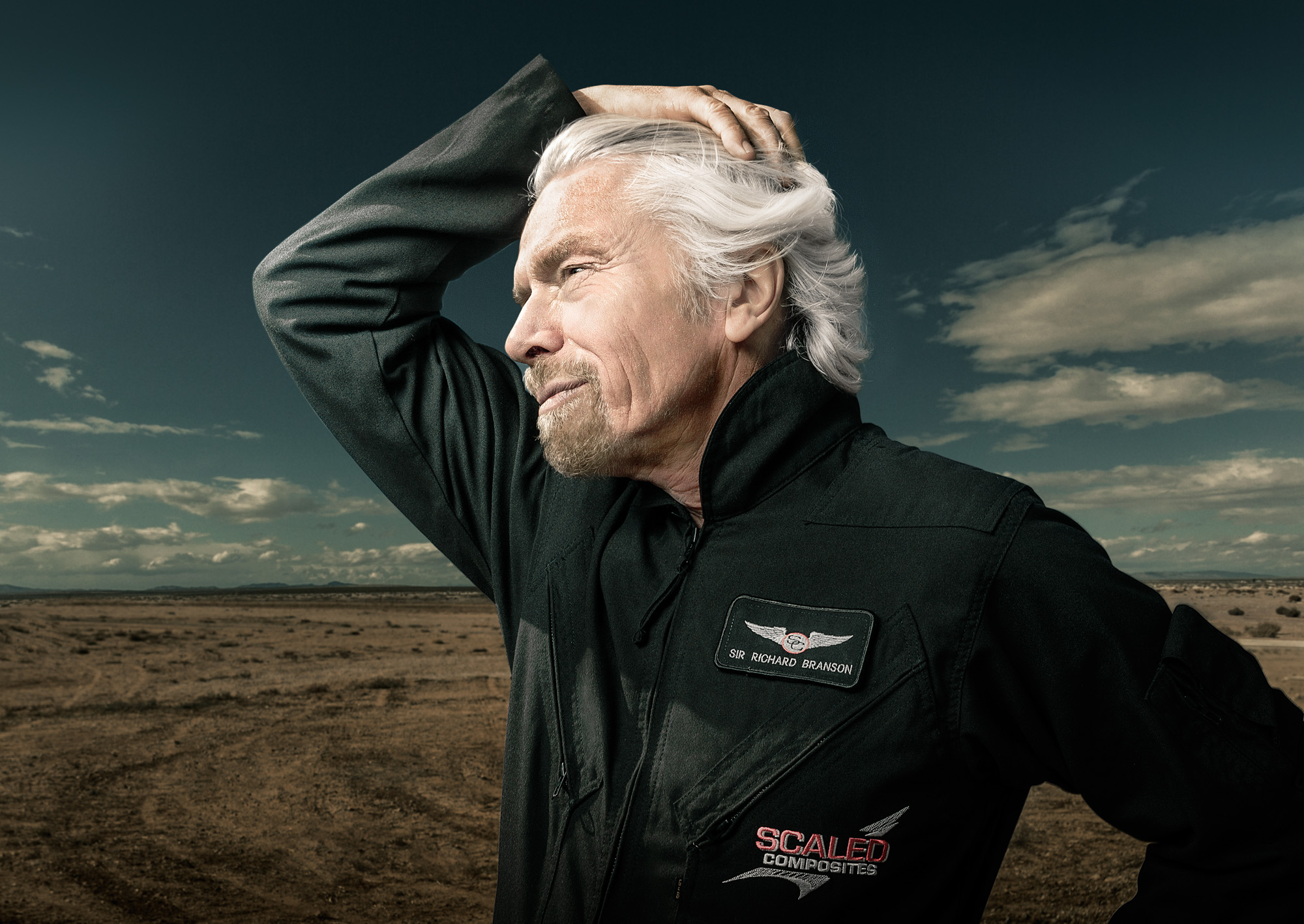 cc2012082 - Richard Branson and Virgin Galactic photographed for Wired UK Magazine