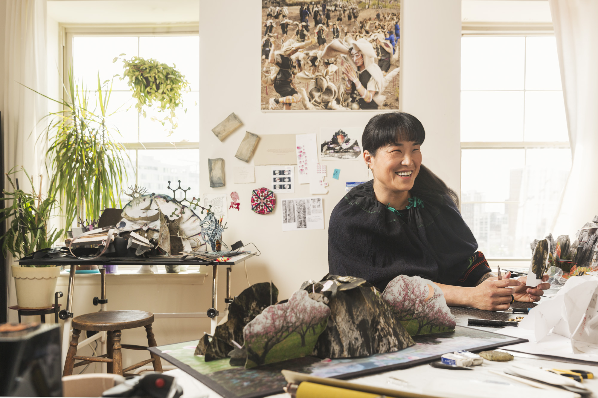 cc2015015 - Artist Colette Fu photographed for American Craft Magazine